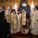 Θεία Λειτουργία επί τη μνήμη του Αγίου Ελευθερίου, ιερουργούντος του Αρχιεπισκόπου κ. Ιερωνύμου.