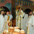 Ο Σεβασμιώτατος Ποιμενάρχης μας κ. Χρυσόστομος στην Ι.Μ Αγίου Ραφαήλ Μυτιλήνης μετά προσκυνητών του